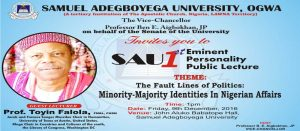 The Fault Lines Of Politics: Minority-Majority Identities In Nigerian Affairs